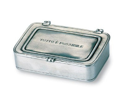 """Tutto e Possibile"" Box By Match Pewter"