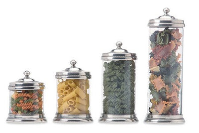 Glass Canisters By Match Pewter