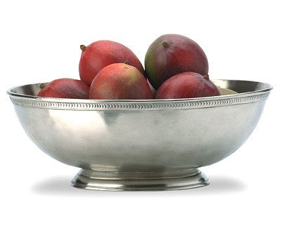 Luna Oval Footed Bowl By Match Pewter