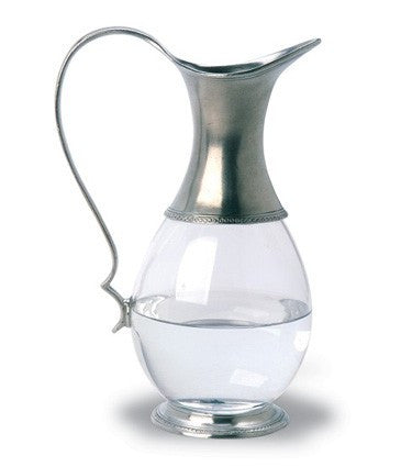 Glass Pitcher By Match Pewter