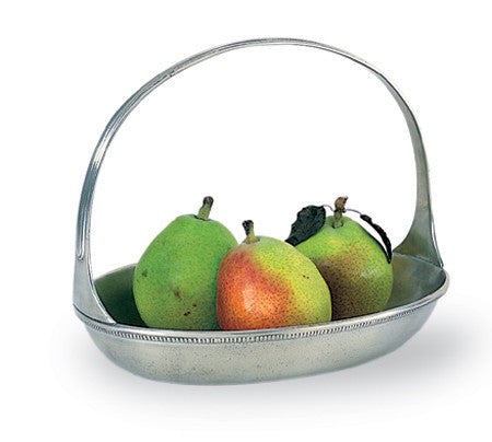 Oval Basket Bowl By Match Pewter