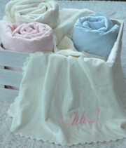 Nanas Single Face Quilted Plush Baby Blanket