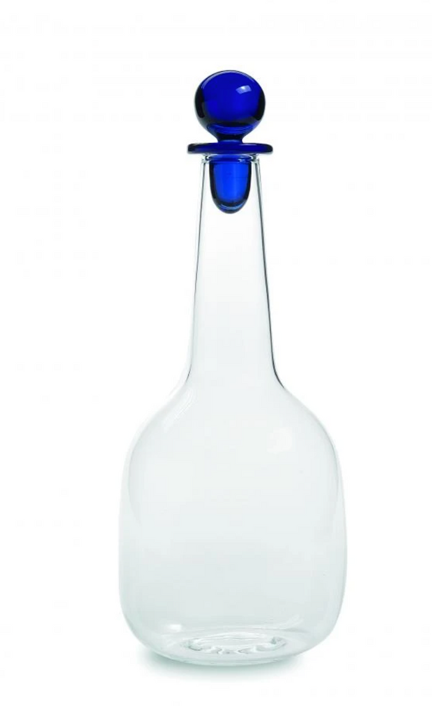 Decanter with Cobalt Stopper