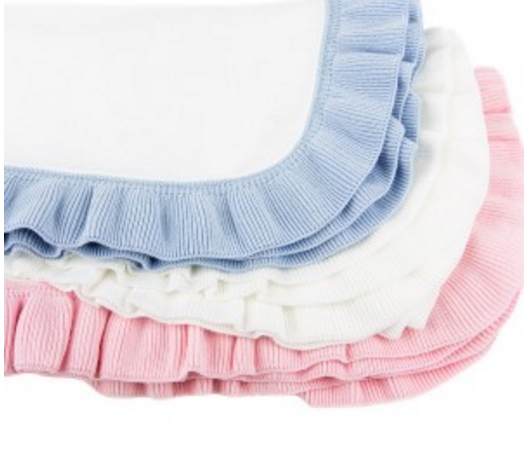Ruffled Edge Knit Baby Blanket