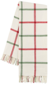 Tattersall Plaid Italian Throw blanket