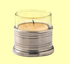 Tea Light Holder With Glass Canister By Match Pewter