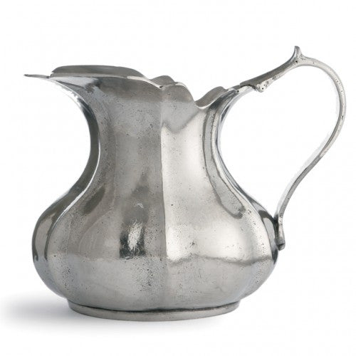 Vintage Small Scalloped Pitcher By Arte Italica