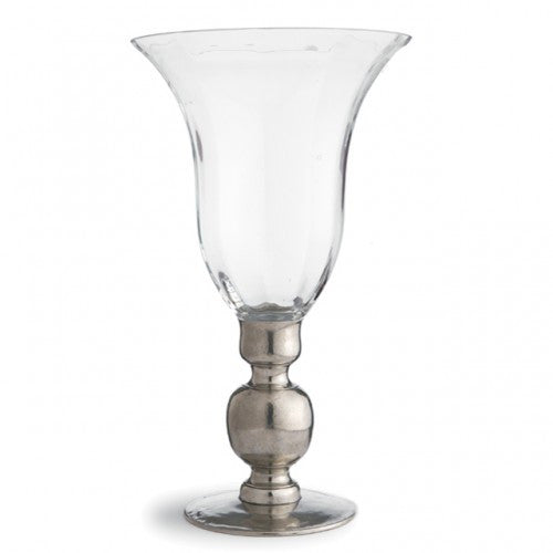 Giovanna Vase with Pewter Stem By Arte Italica