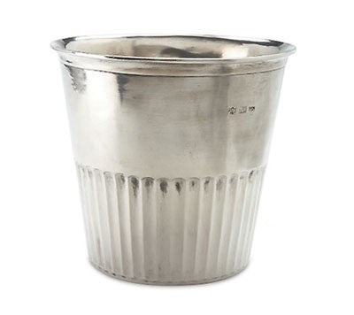 Pewter Impero Wastebasket by Match Pewter