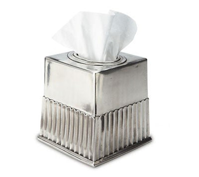 Impero Tissue Box By Match Pewter