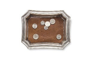 Pocket Change Tray with Leather Insert from Match