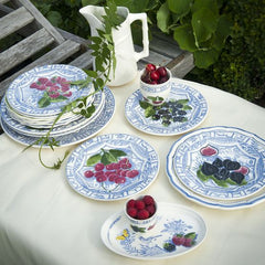 Oiseau Bleu Fruit Dinnerware by Gien