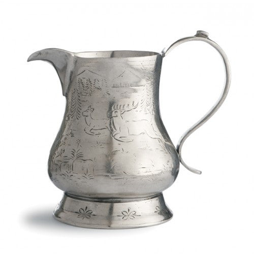 Vintage Pitcher with Deer By Arte Italica