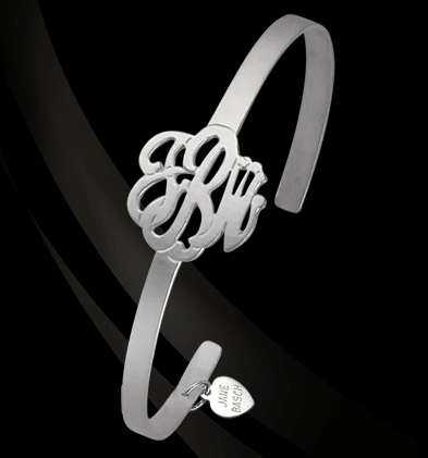 Script Monogram Bangle