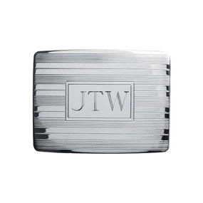 Silver Plated Etched Buckle