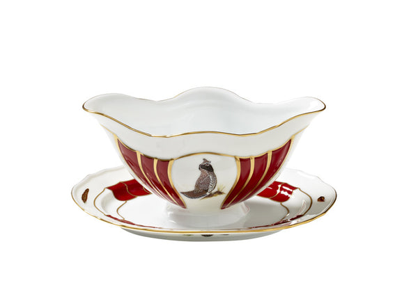 Winter Game Birds Gravy Boat