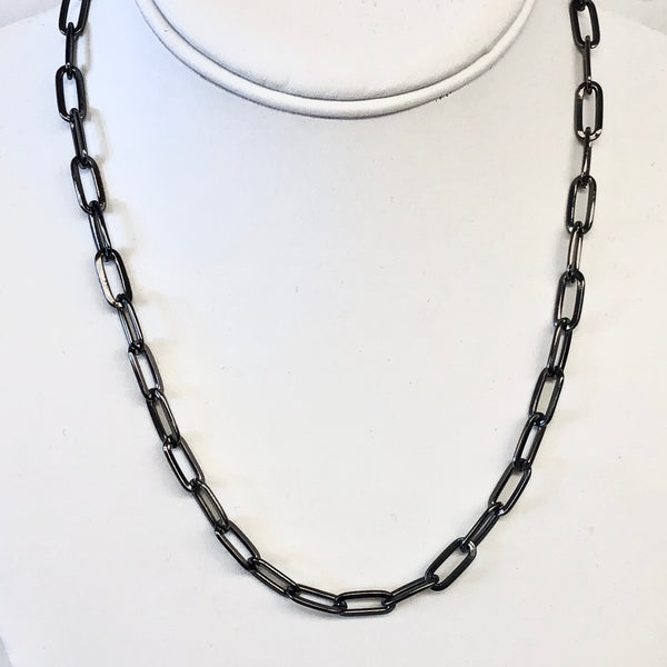 Short Oval Chain Necklace