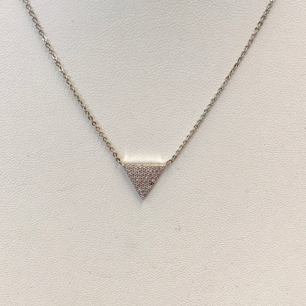 Chain with CZ Pave Triangle