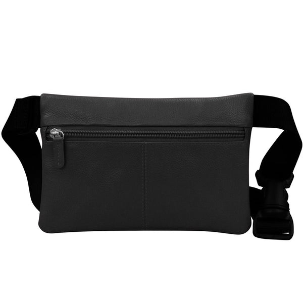 Leather 3 Zip Hip Pouch
