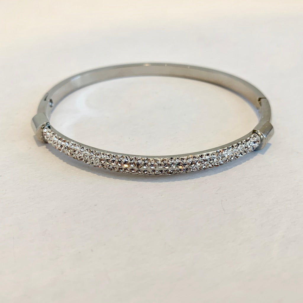 Bangle with Pave Bar