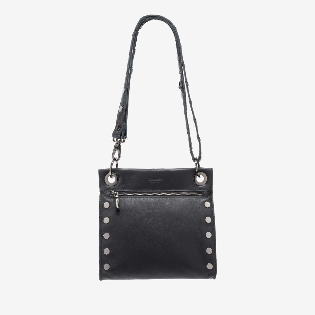 Hammitt Medium Tony Leather Crossbody-Gunmetal