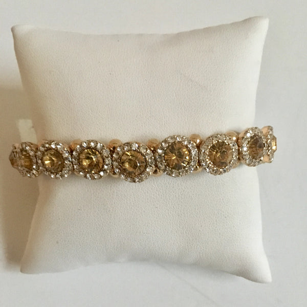 Crystal Yellow Stone Bracelet