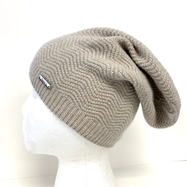 Wool & Cashmere Houndstooth Slouchy Hats
