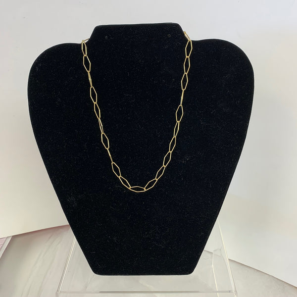 Oblong Link Chain Necklace