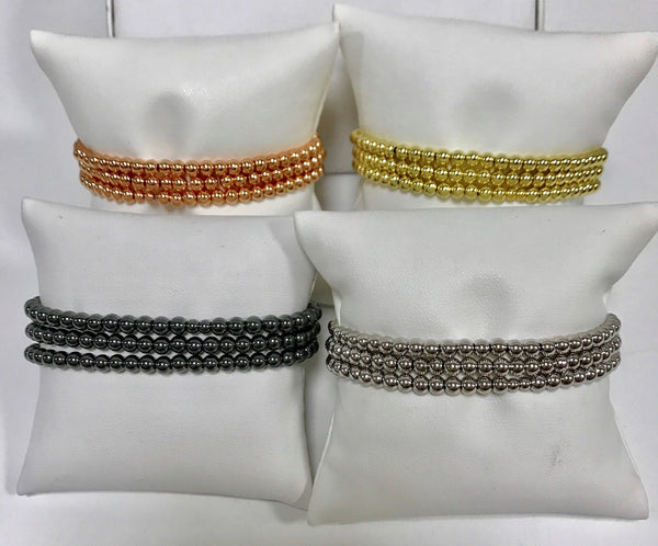 Plain Beaded Bracelets 4mm