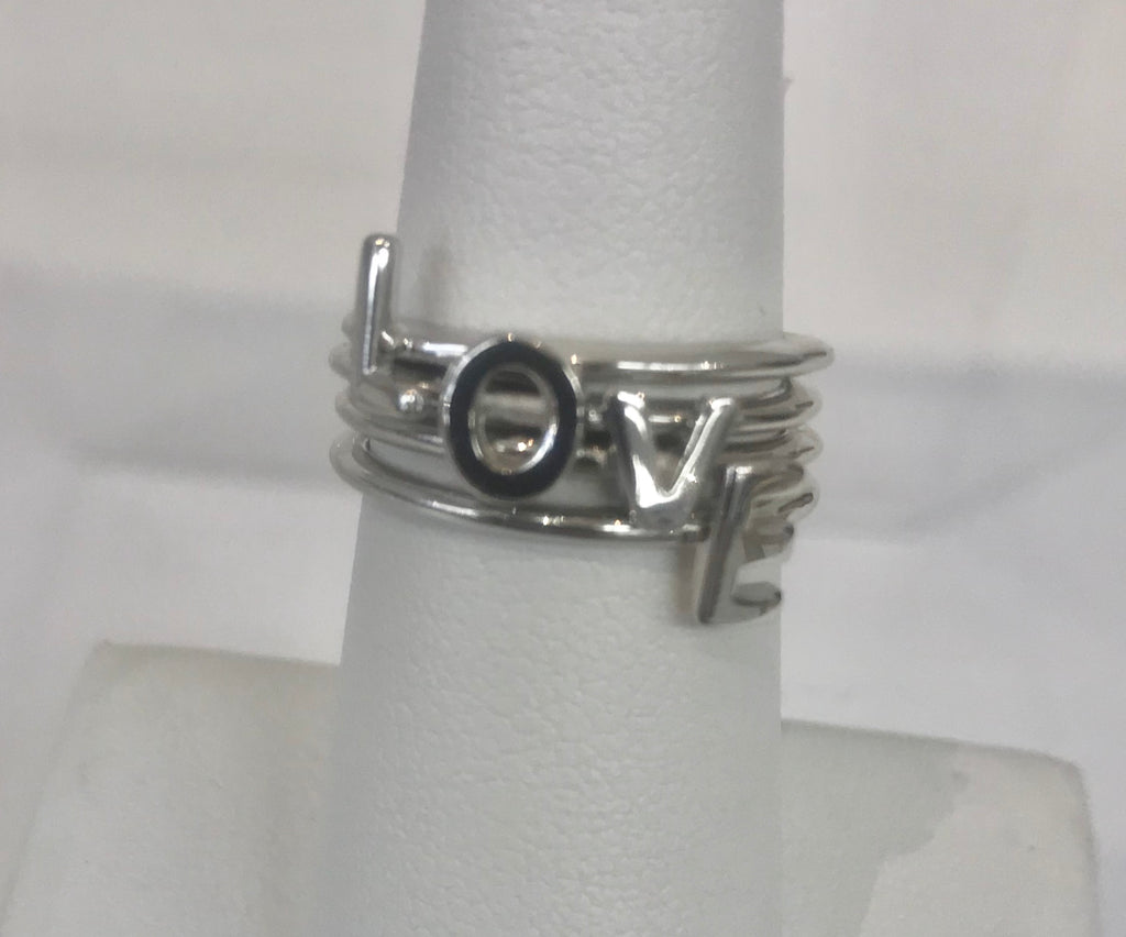 """LOVE"" Stacking Rings"