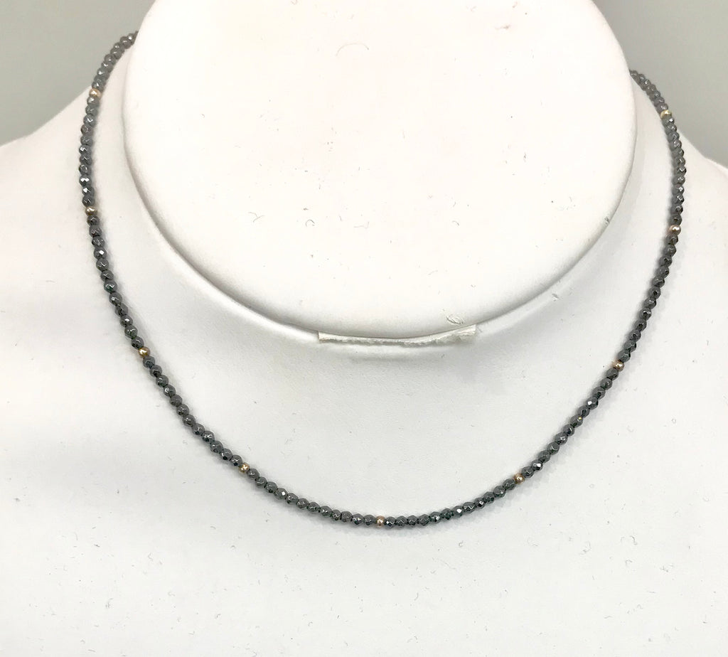 Hematite Choker with Silver Accents