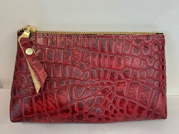 Small Pouch Croc Embossed