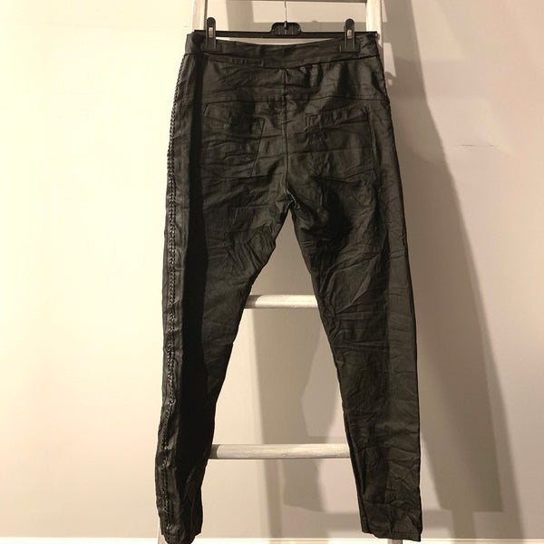 Leatherette Joggers