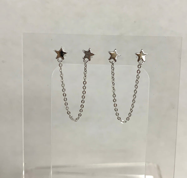 Double Star and Chain Earring