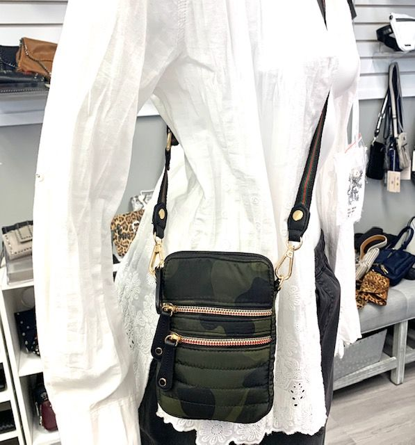 The Perfect Mini Camo Crossbody Bag