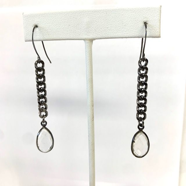 Curb Chain Natural Stone Earrings