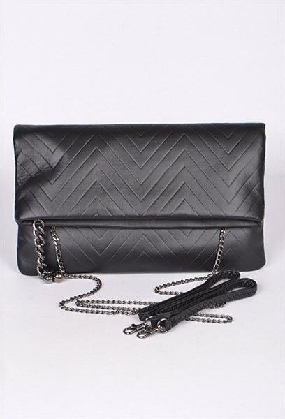 Herringbone Design Clutch Bag