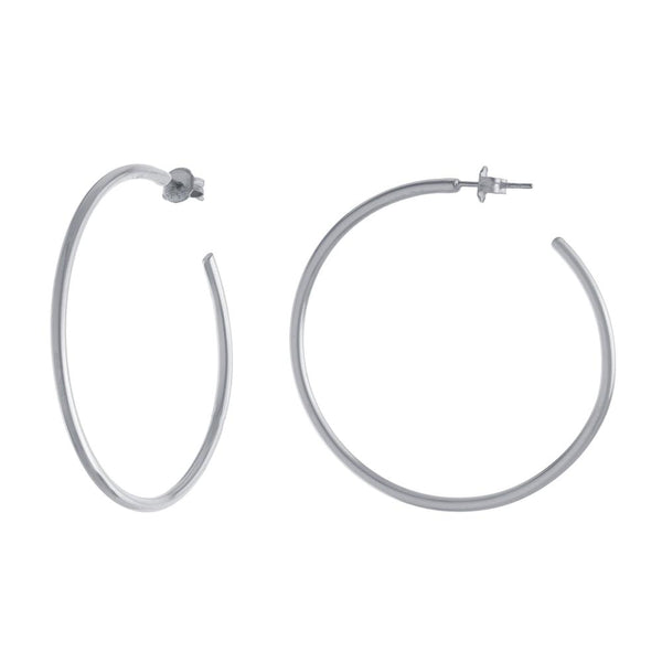 Sterling Silver High Polish Hoops