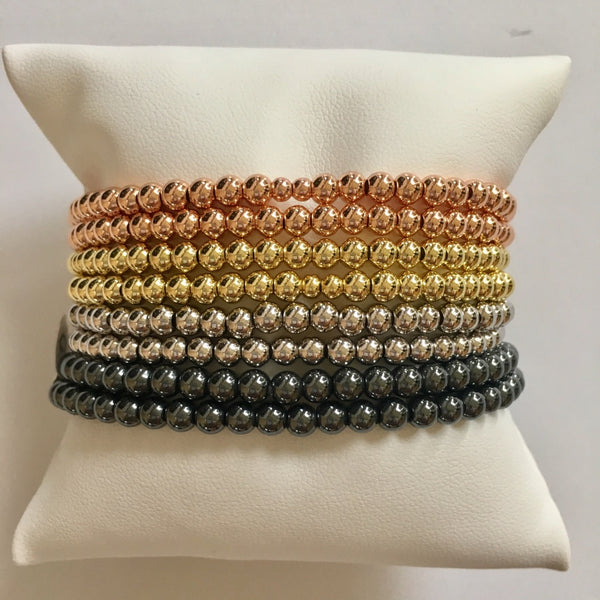 4mm Plain Beaded Bracelet