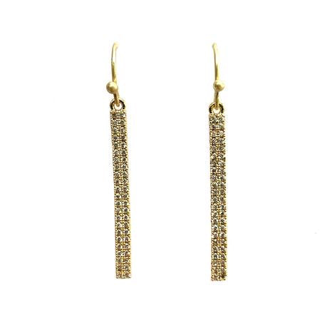 Small CZ Bar Earring