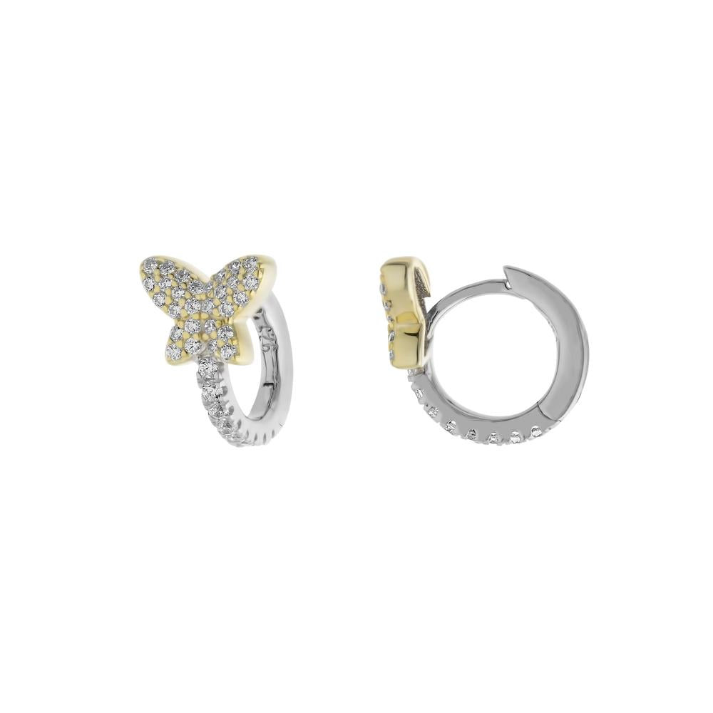 Pave Butterfly Huggie