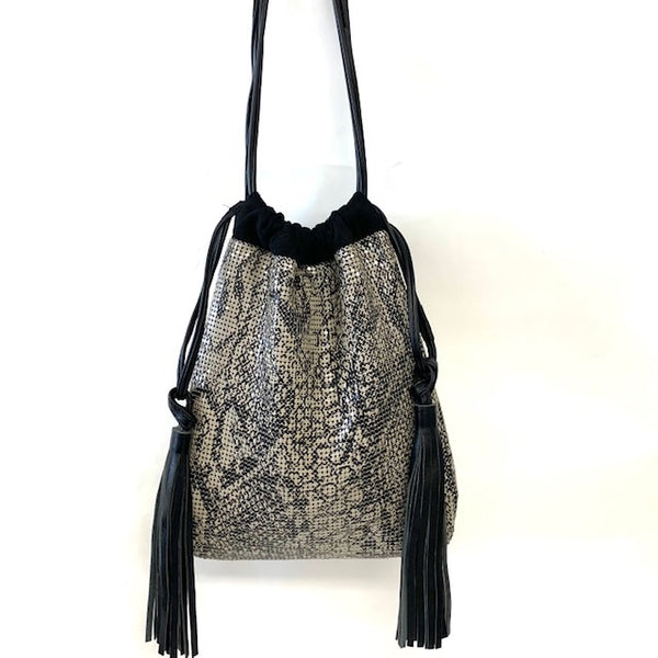 Soft Drawstring Pouch with Tassel