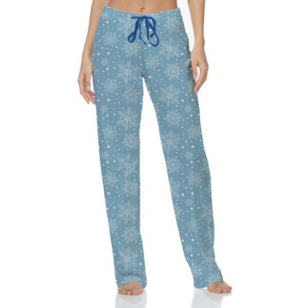 Hello Mello Snow Flakes Holiday Lounge Wear