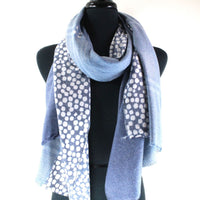 Lovable Pattern Scarf with Frayed Edge
