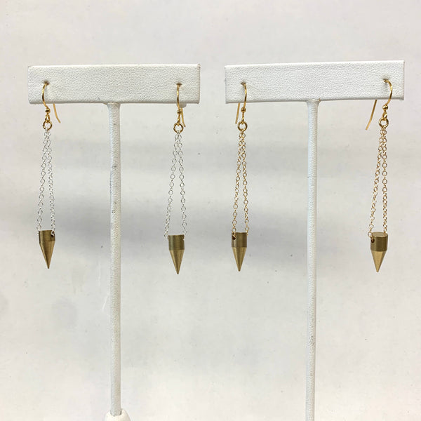 Erica Gold Spike Earrings