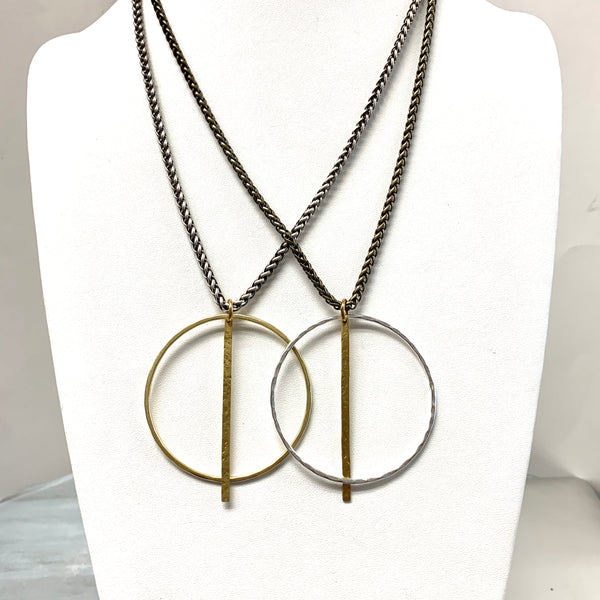 Sally Circle Necklace with Bar