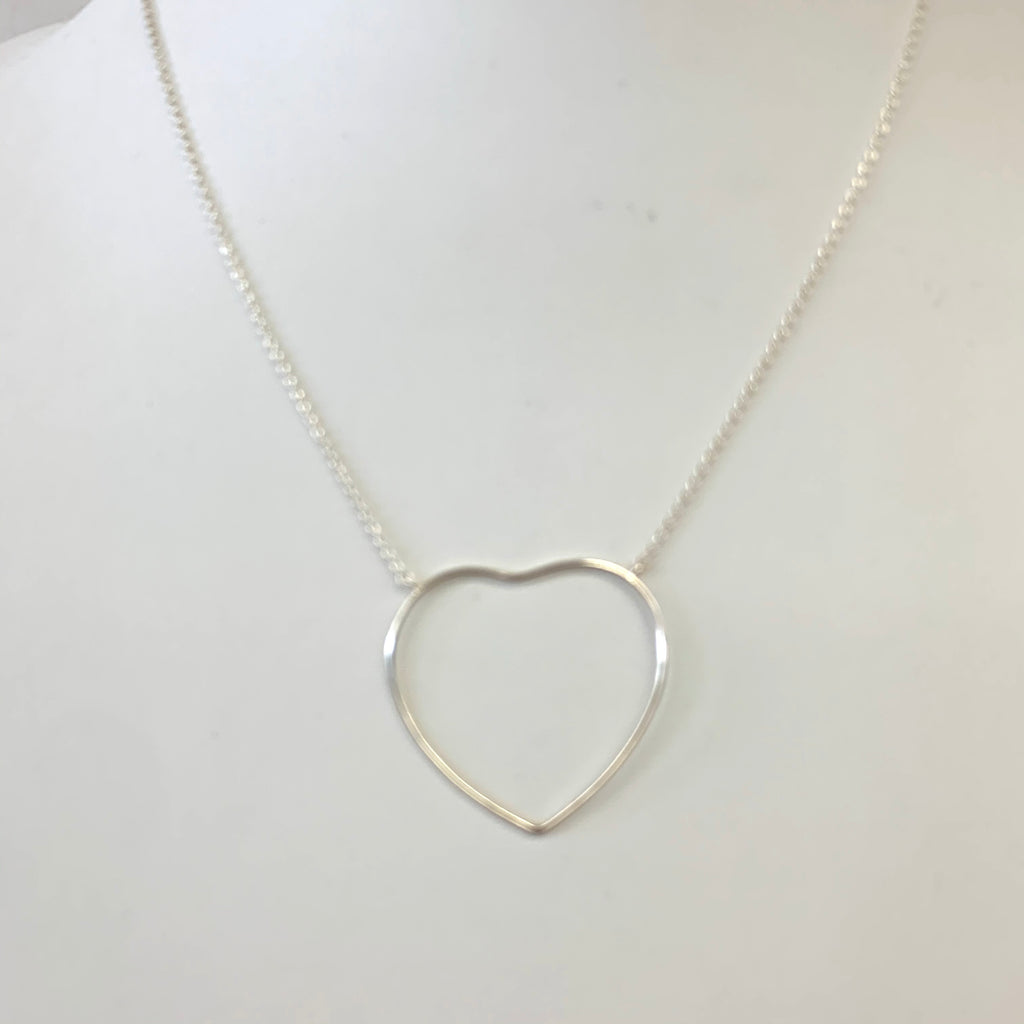 Sterling Open Heart Necklace