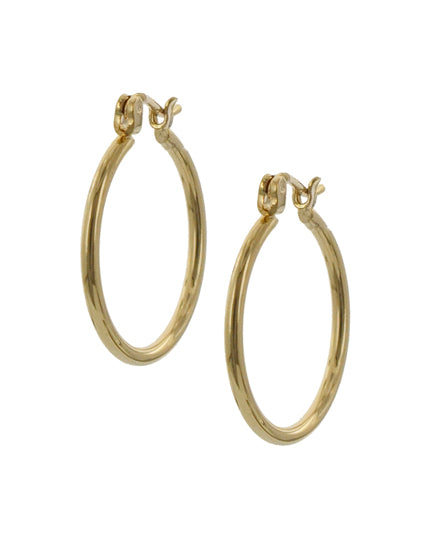 Goldtone Hoops