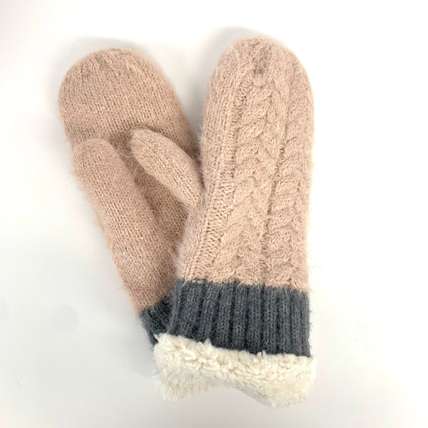 Classic Cable Knit Mittens