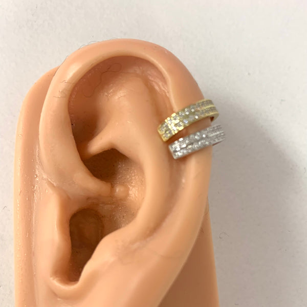 Double Channel Set CZ Cuff